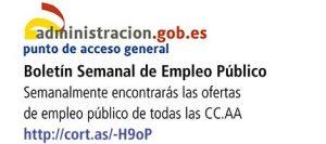 Boletin semanal de empleo público