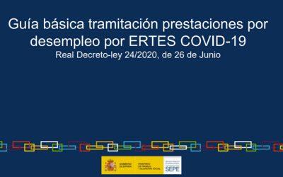 GUÍA BÁSICA TRAMITACIÓN PRESTACIONES DESEMPLEO POR ERTES COVID-19